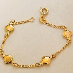Goldfish Goldfilled Kids Bracelet